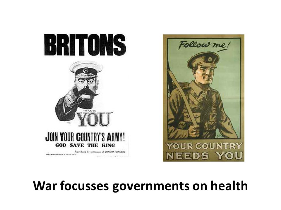 War focusses governments on health