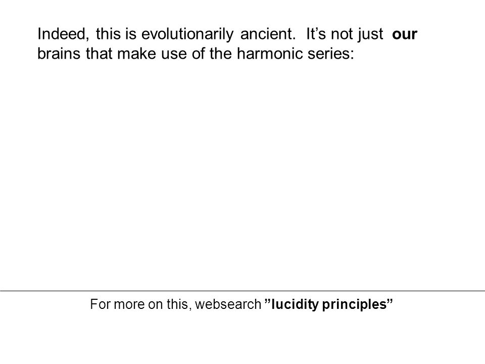 Indeed, this is evolutionarily ancient.