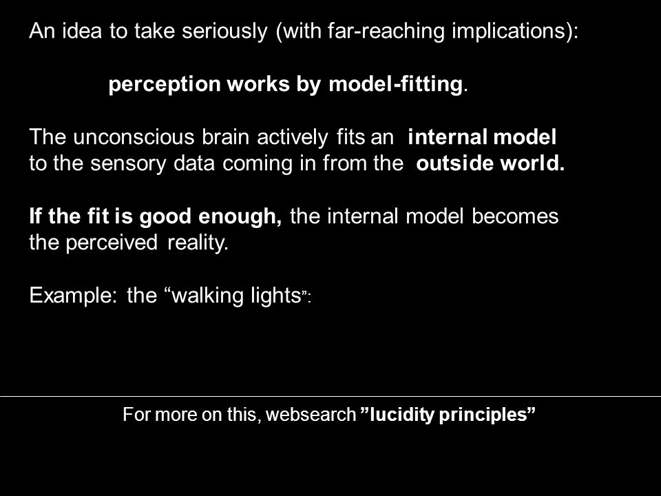 For more on this, websearch lucidity principles E.g.