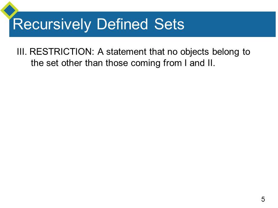 5 Recursively Defined Sets III.
