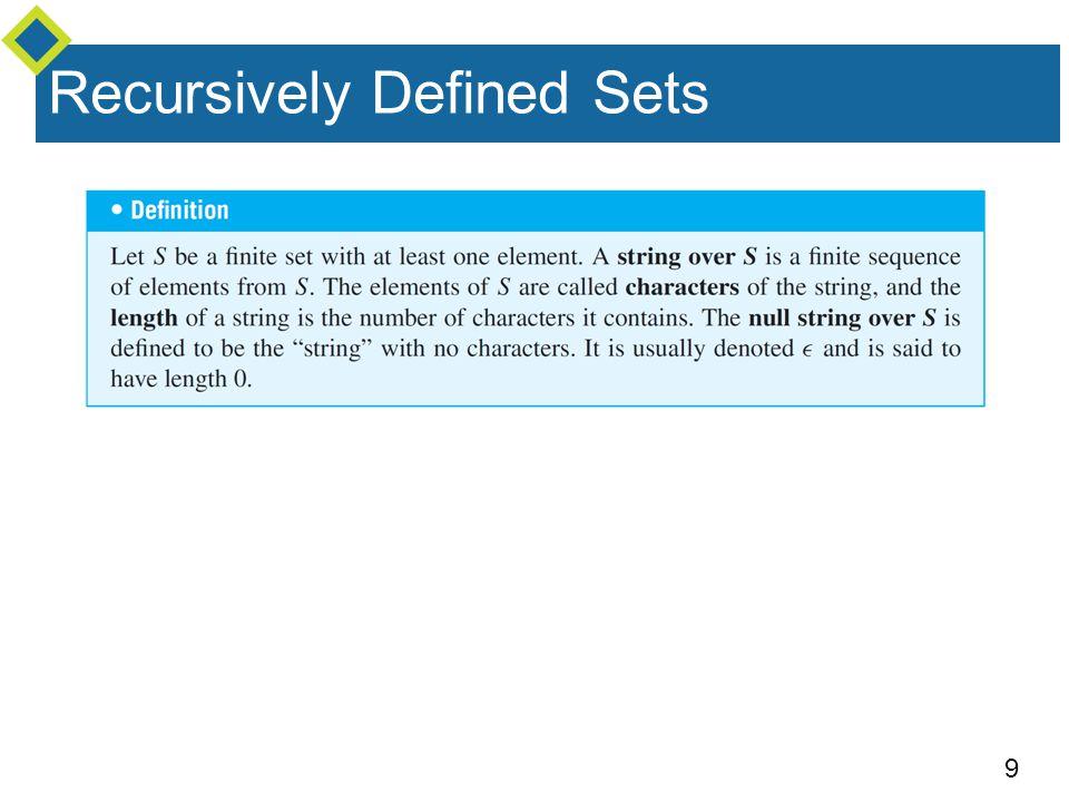 9 Recursively Defined Sets