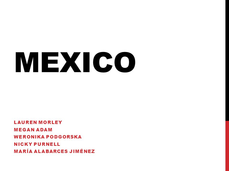 MEXICO LAUREN MORLEY MEGAN ADAM WERONIKA PODGORSKA NICKY PURNELL MARÍA ALABARCES JIMÉNEZ