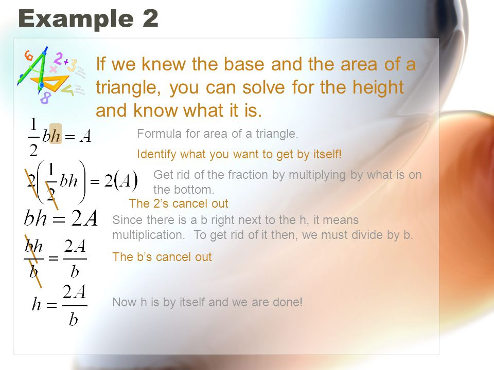 Example 3 Formula for area of a trapezoid.