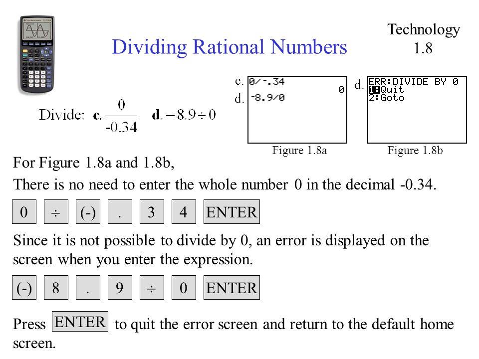 Dividing Rational Numbers Figure 1.8bFigure 1.8a d.