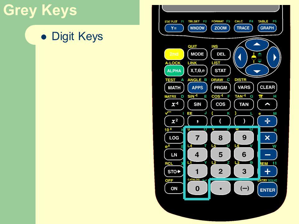 Grey Keys Digit Keys