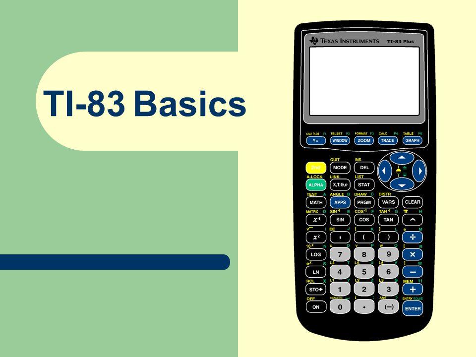 TI-83 Basics