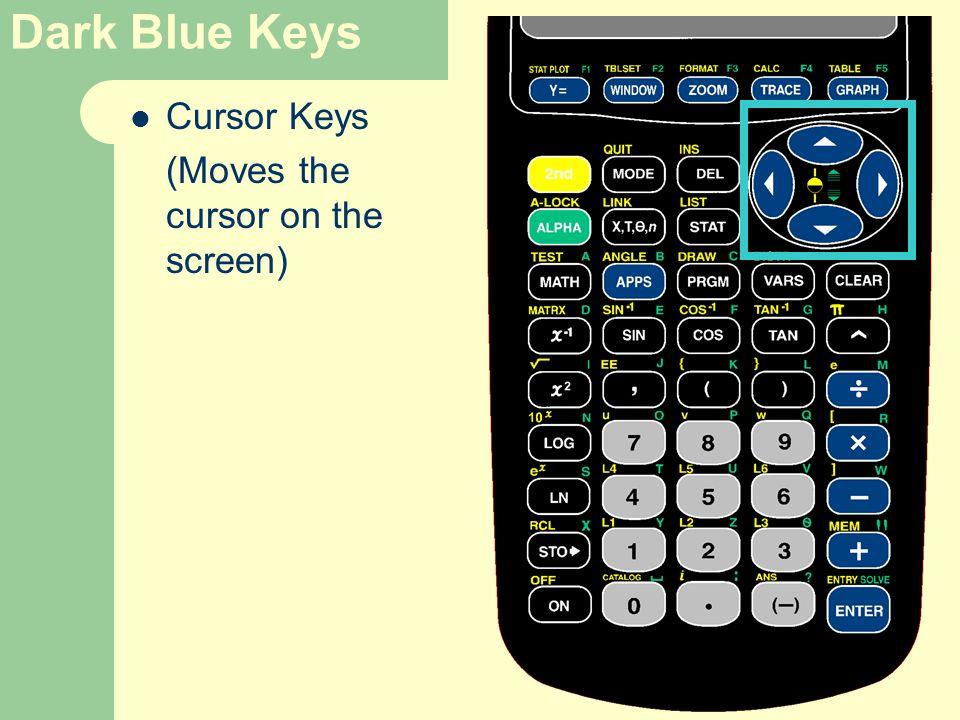 Cursor Keys (Moves the cursor on the screen)