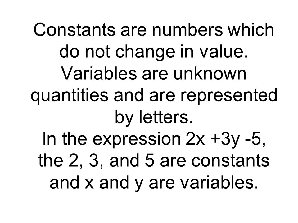 To evaluate an algebra expression, substitute numbers for the variables and simplify using the order of operations.