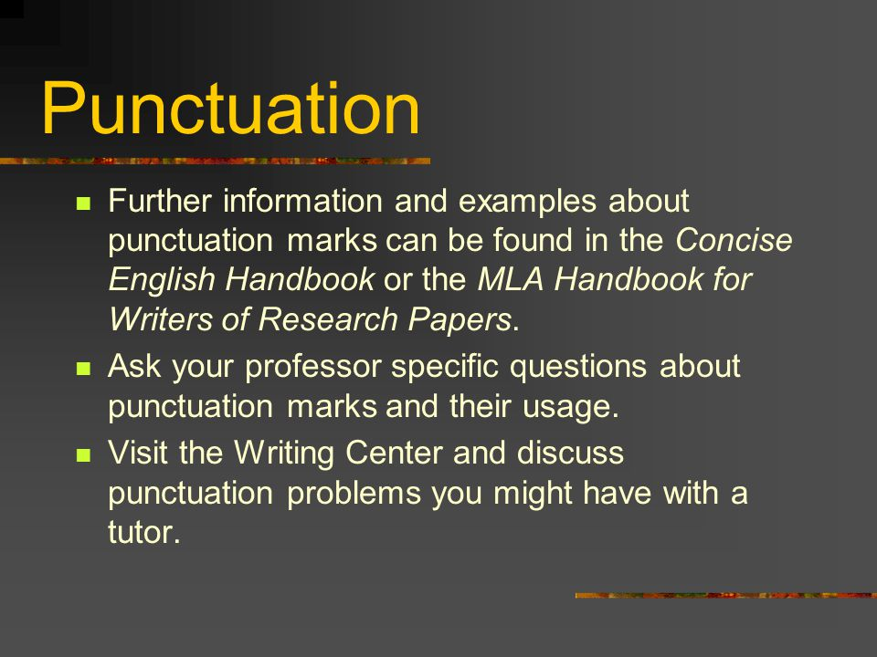 punctuation research papers