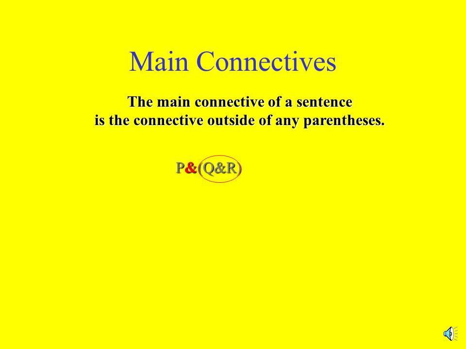 Main Connectives Basic Principle for all the Rules: Rules apply to main connectives only.
