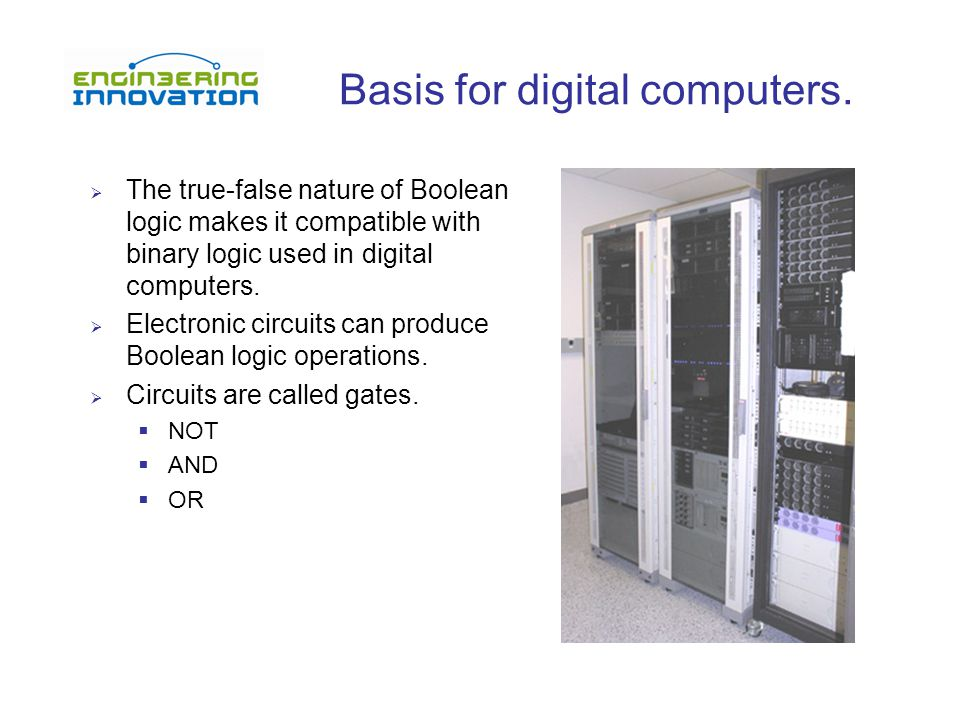 Basis for digital computers.