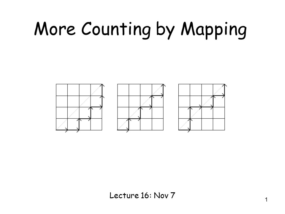 1 More Counting by Mapping Lecture 16: Nov 7
