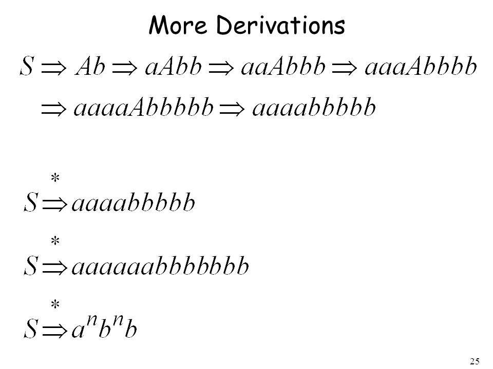 25 More Derivations