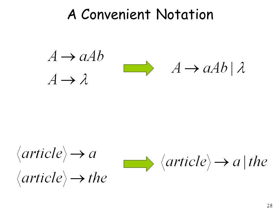 28 A Convenient Notation
