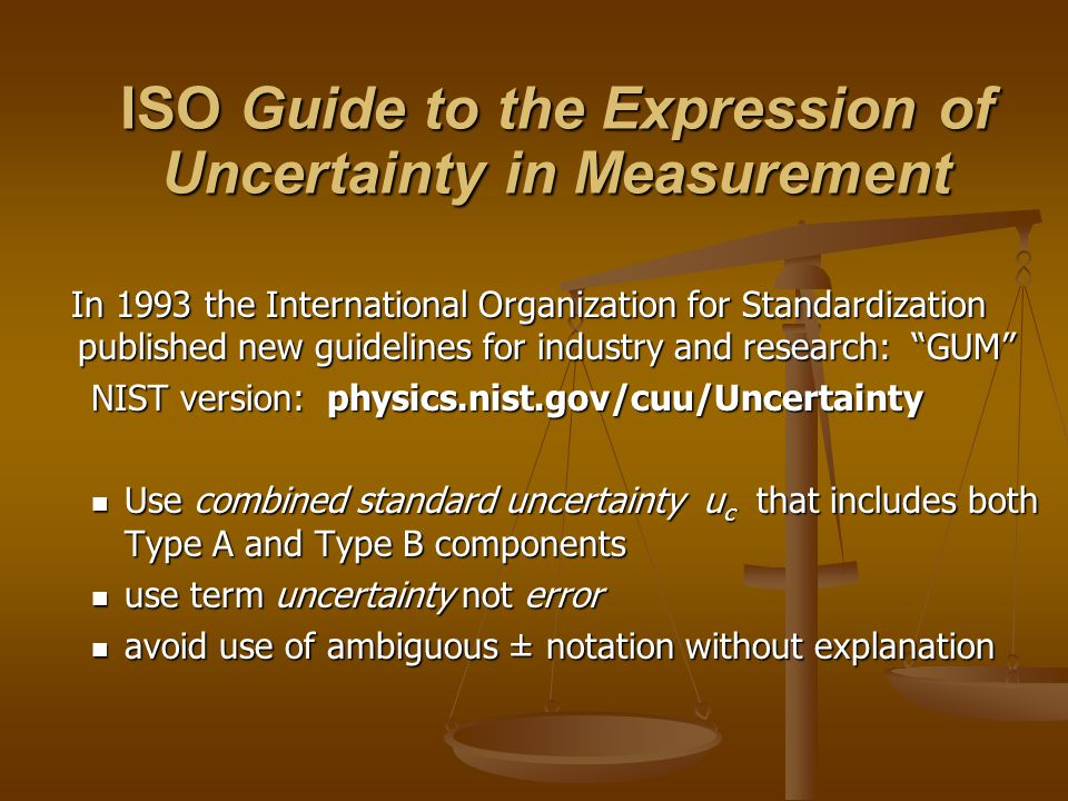 The ± format should be avoided whenever possible because it has traditionally been used to indicate an interval corresponding to a high level of confidence and thus may be confused with an expanded uncertainty. The ± format should be avoided whenever possible because it has traditionally been used to indicate an interval corresponding to a high level of confidence and thus may be confused with an expanded uncertainty. -ISO Guide, p.