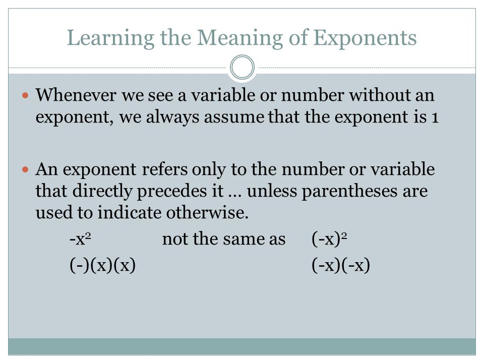 Order of Operation 1.Evaluate within grouping symbols { }, [ ], ( ) innermost parenthesis first 2.