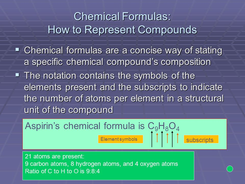 Writing Formulas for Compounds Containing a Polyatomic Ion  Compound name is iron (III) sulfate  Fe 3+ and SO 4 2- are the ions  Balance the charges  Write the formula  Fe 2 (SO 4 ) 3 is the formula using the subscripts from the charge balance 2 3