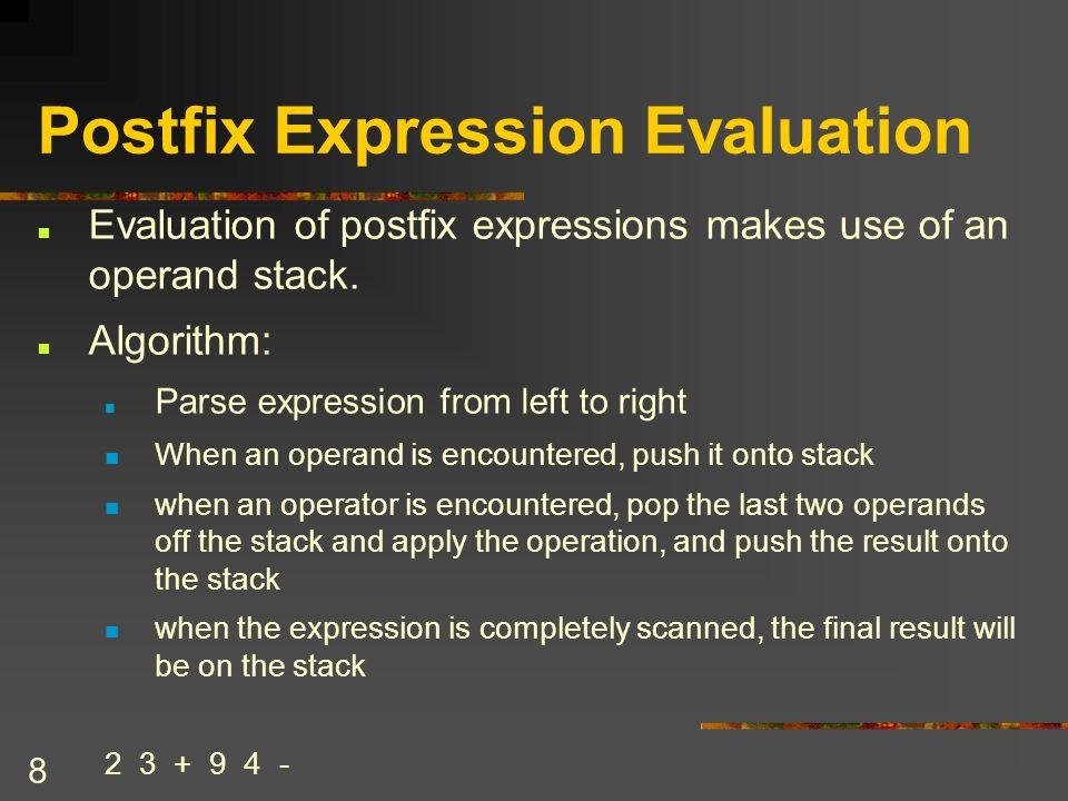 19 Conversion Example 2 + 3 * [(7-5)/2]