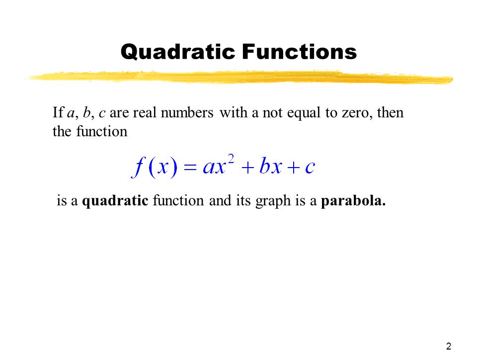 13 Solving Quadratic Inequalities Solve the quadratic inequality –x 2 + 5x + 3 > 0.