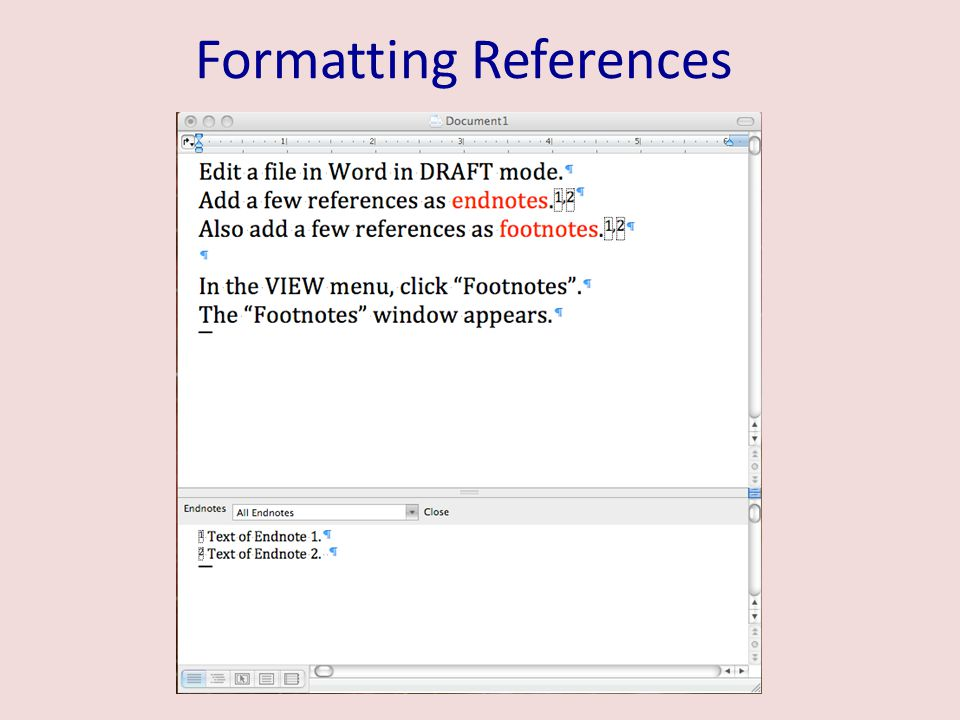 Formatting References