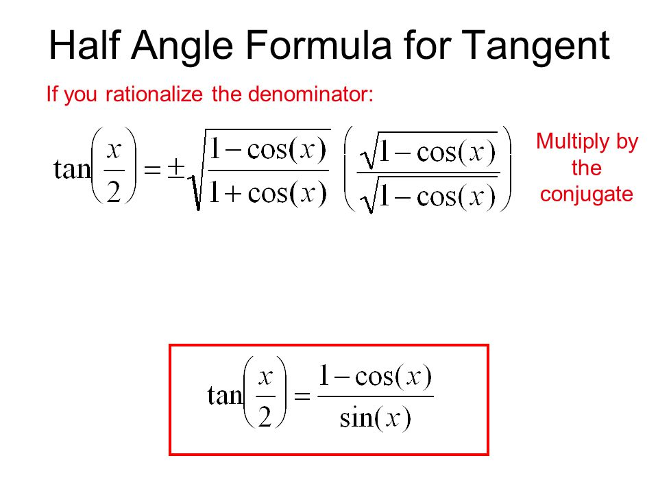 If you rationalize the denominator: Multiply by the conjugate