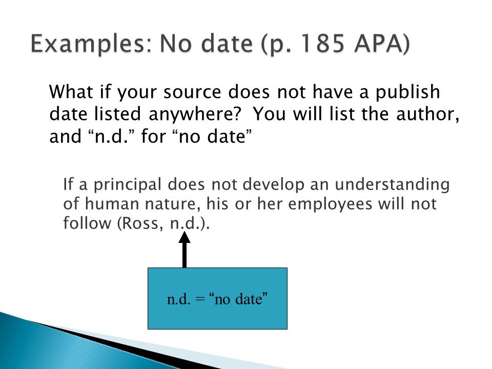 What if your source does not have a publish date listed anywhere.