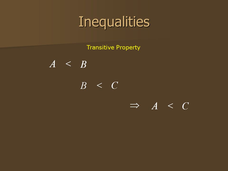 Inequalities Transitive Property