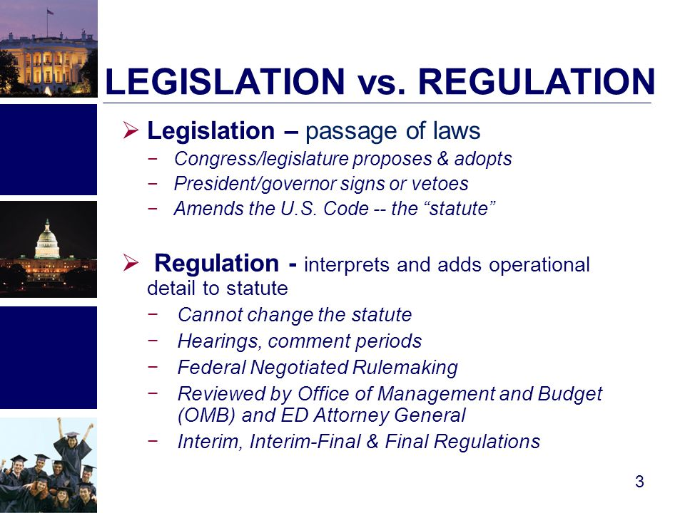  ED publications & related site links −Information for Financial Aid Professionals (IFAP) http://ifap.ed.gov  Library of Congress −Thomas Legislative Information on the Internet  Public Law (by P.L.