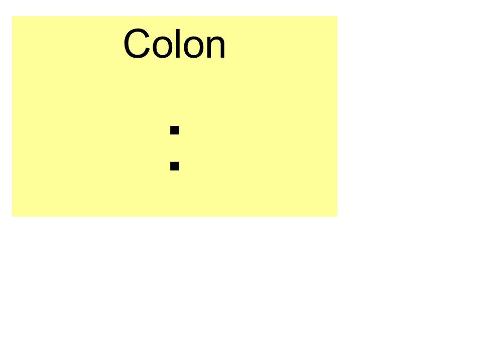 Colon :