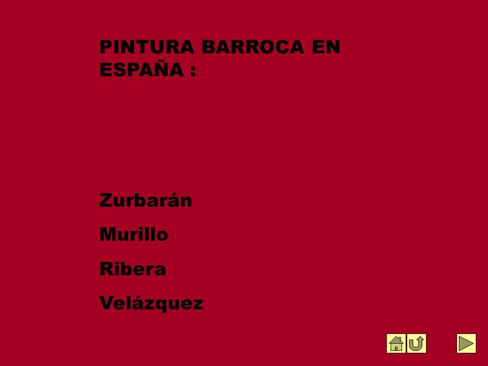 Zurbarán Murillo Ribera Velázquez PINTURA BARROCA EN ESPAÑA :