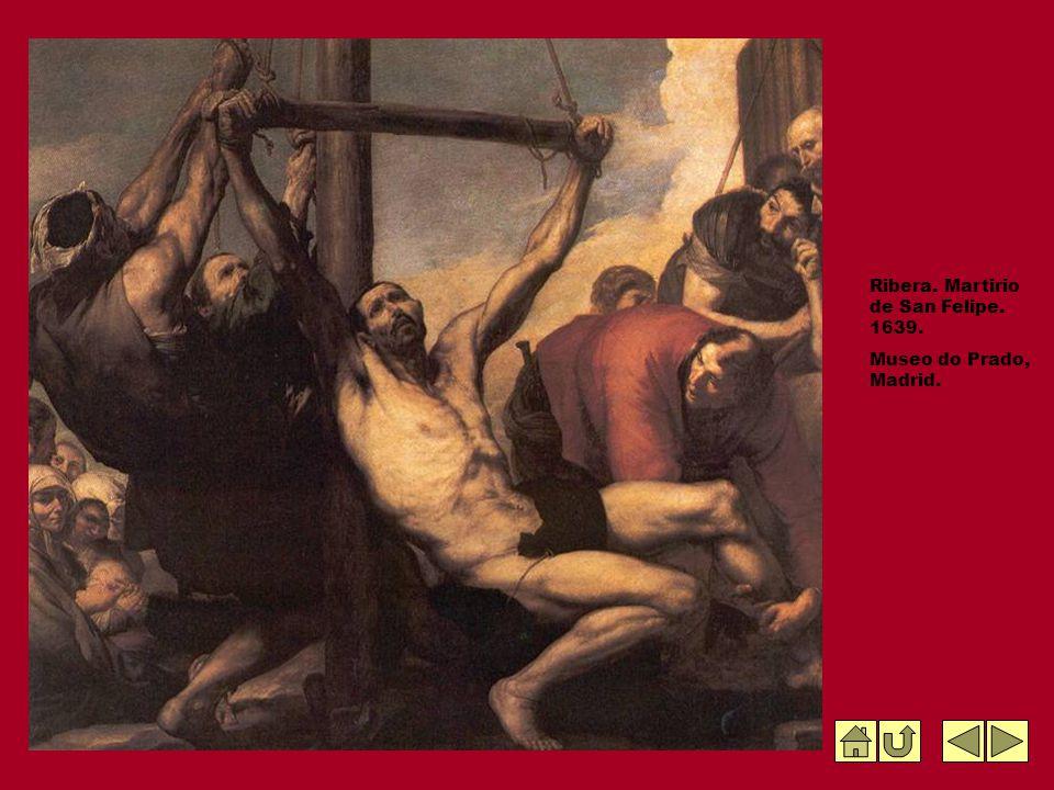 Ribera. Martirio de San Felipe. 1639. Museo do Prado, Madrid.