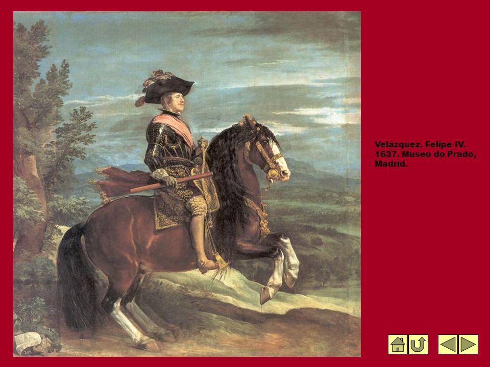 Velázquez. Felipe IV. 1637. Museo do Prado, Madrid.