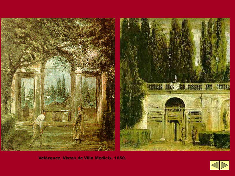 Velázquez. Vistas de Villa Medicis. 1650.