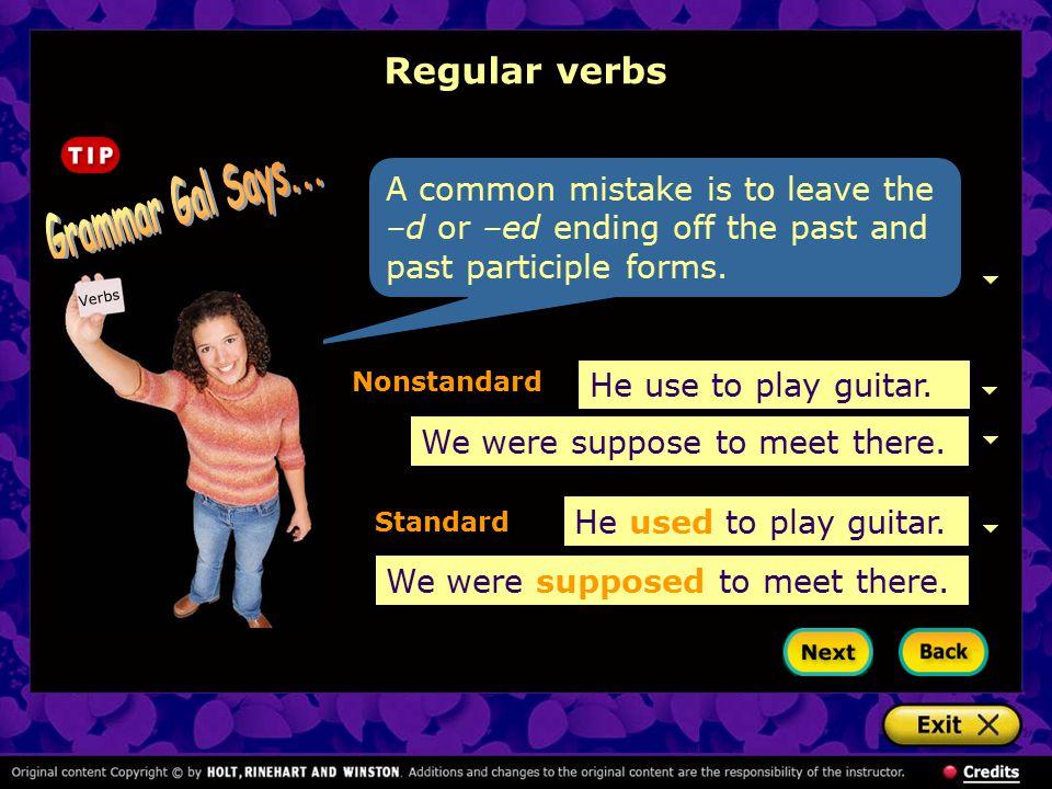 n Irregular verbs Changing vowels 1.