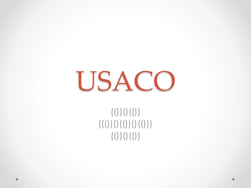 USACO (())()(()) ((())()(())()(())) (())()(())