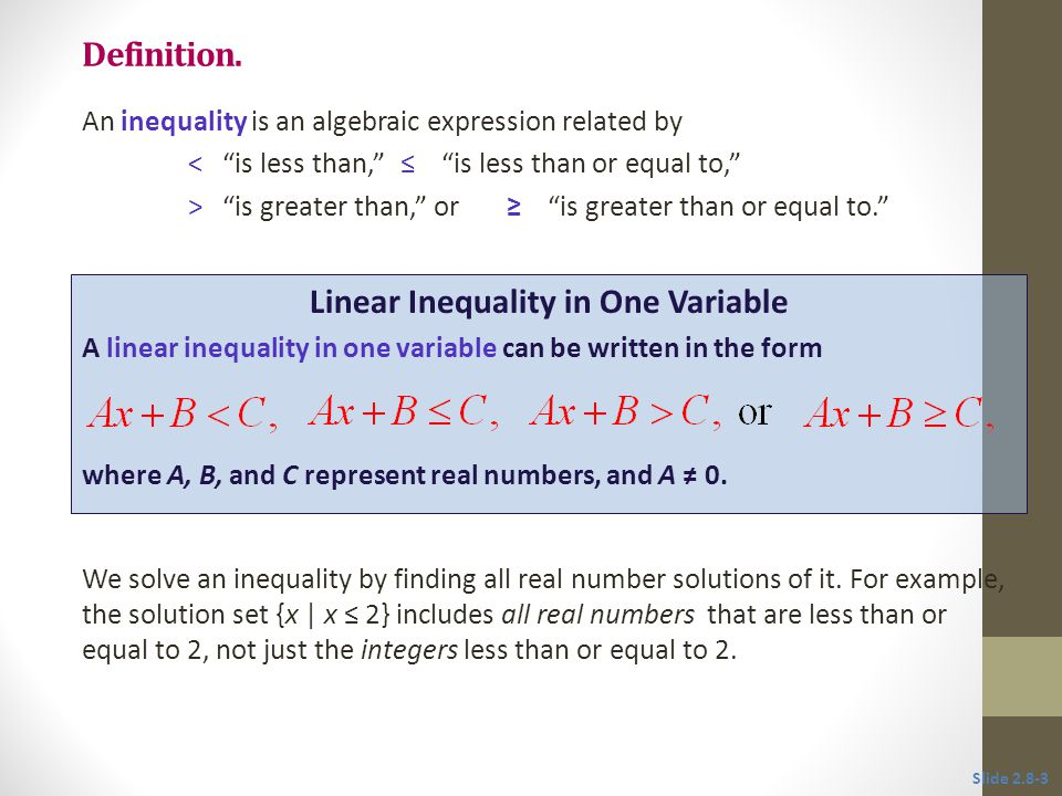 Inequalities can be used to solve applied problems involving phrases that suggest inequality.