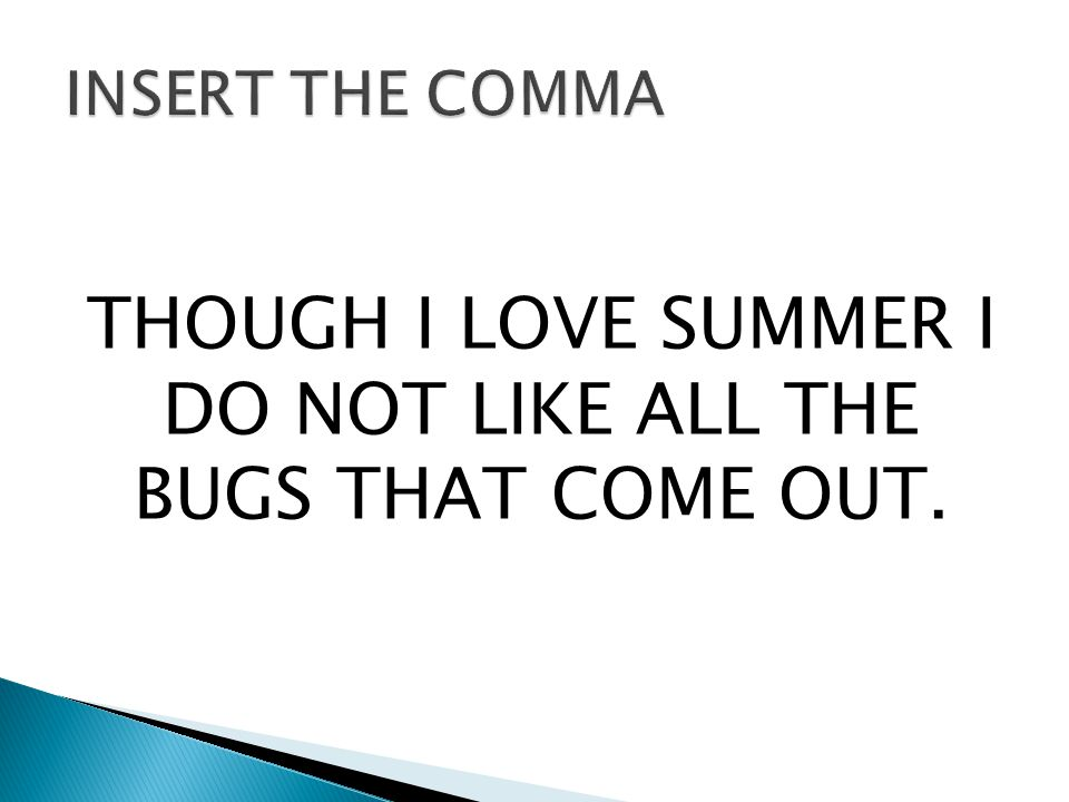 THOUGH I LOVE SUMMER I DO NOT LIKE ALL THE BUGS THAT COME OUT.