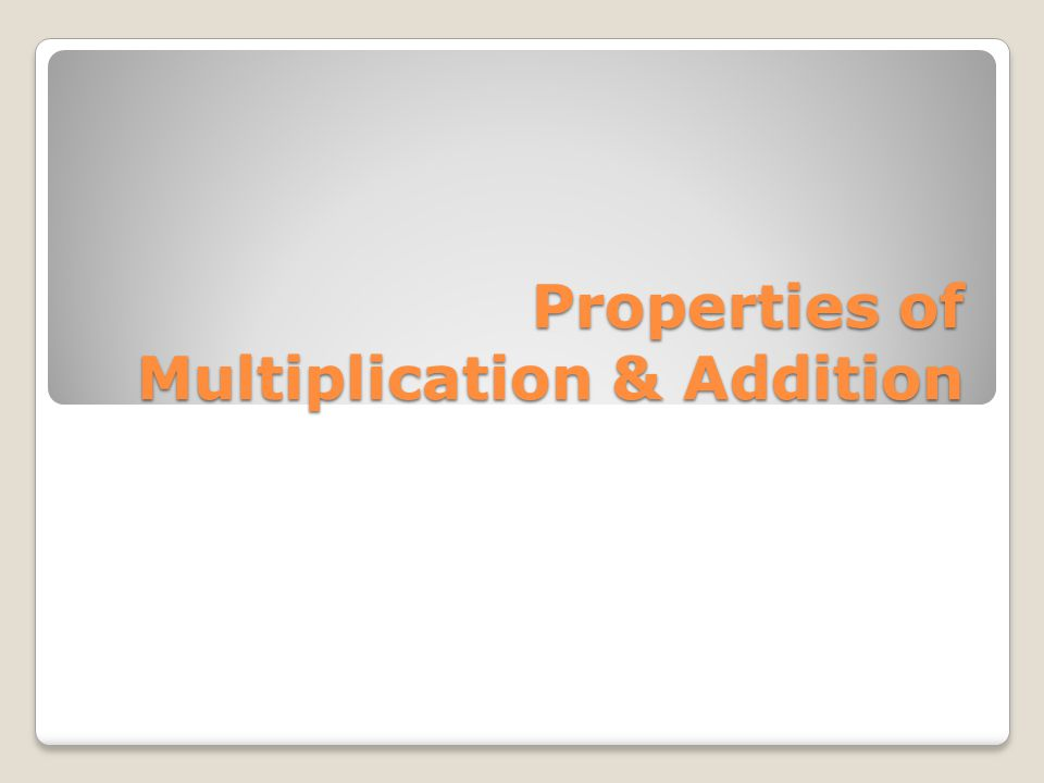 Commutative Property Numbers can be added or multiplied in any order and still yield the same result a + b = b + a 4n = n x 4 3(6) = 6(3)
