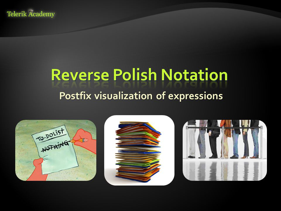 Postfix visualization of expressions