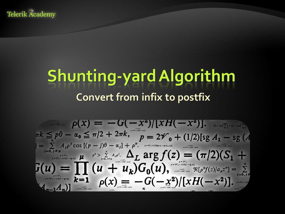 Convert from infix to postfix