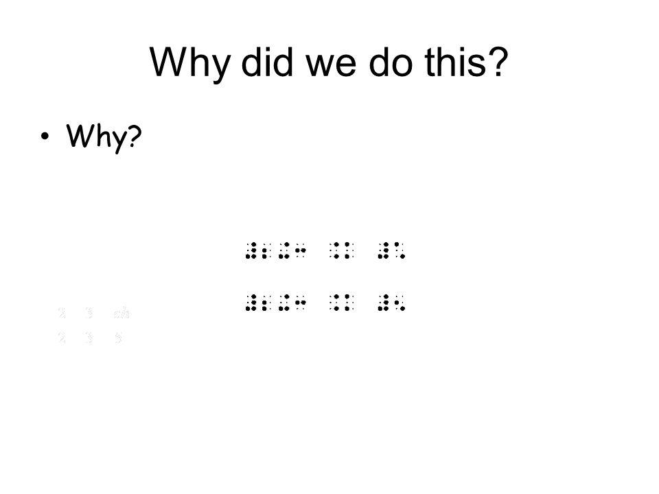 Repeating Decimals Notice how a repeating decimal is written in Nemeth.
