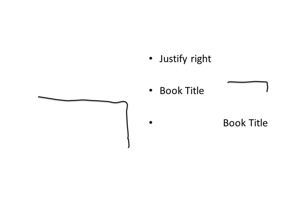 Justify right Book Title
