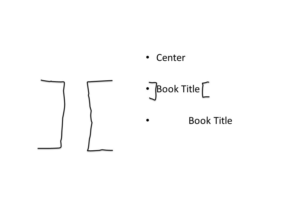 Center Book Title