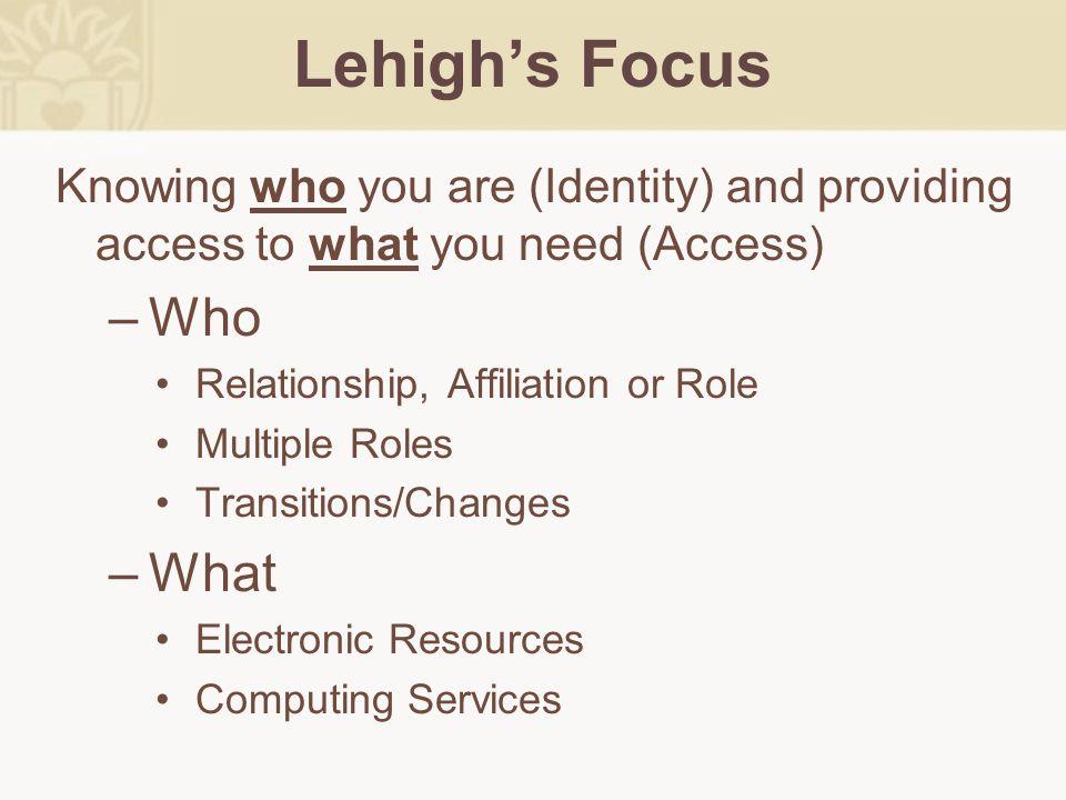 Lehigh University Case Study Concurrent Harmonies & Dissonance
