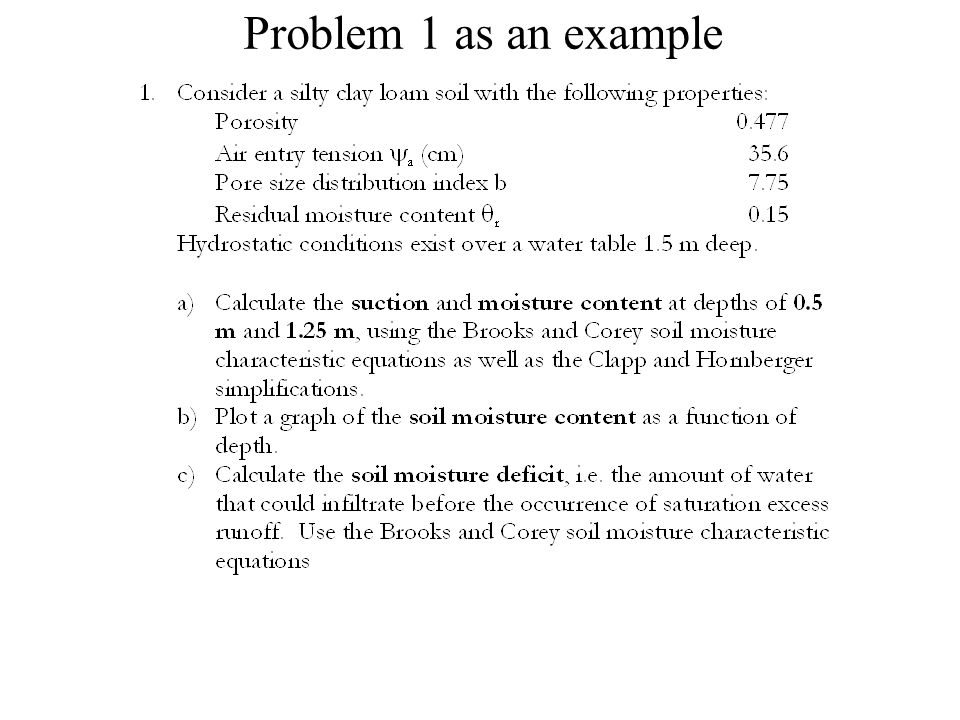 Problem 1 as an example