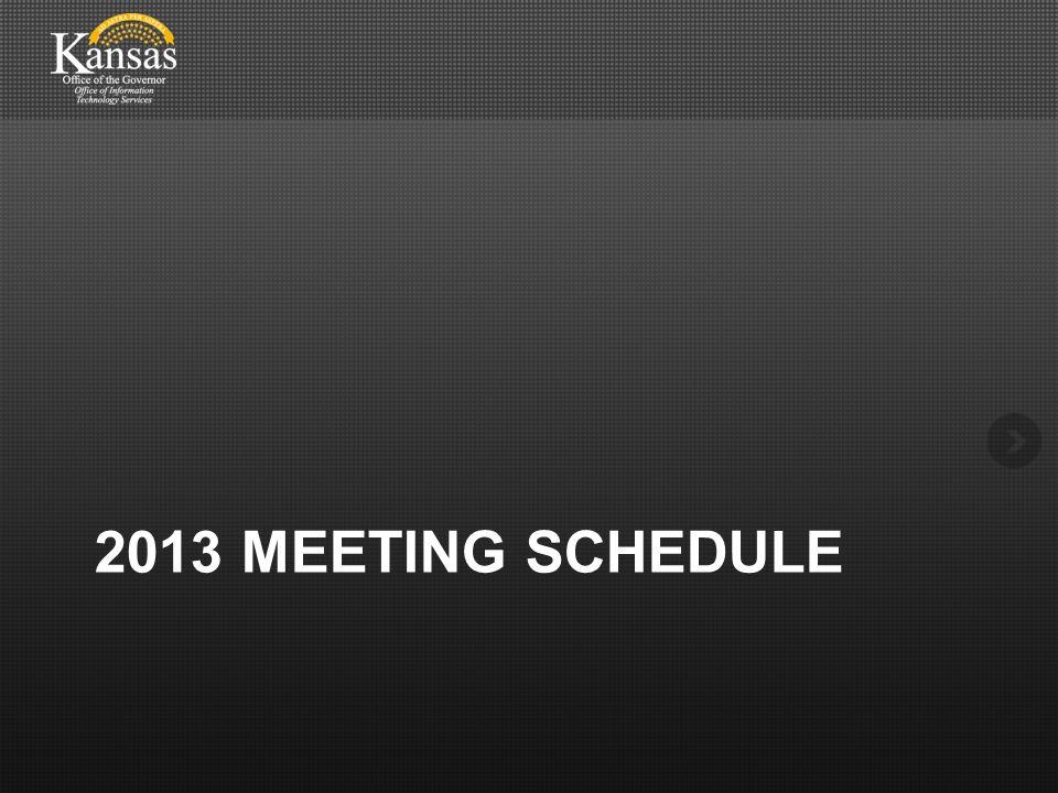 2013 MEETING SCHEDULE
