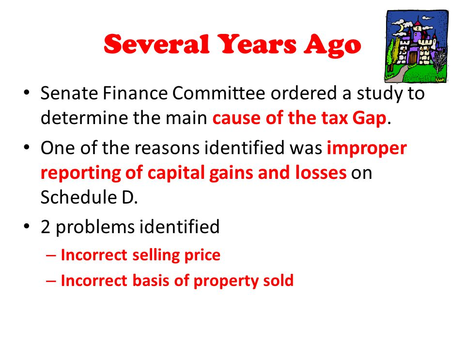 Several Years Ago Senate Finance Committee ordered a study to determine the main cause of the tax Gap. One of the reasons identified was improper repo