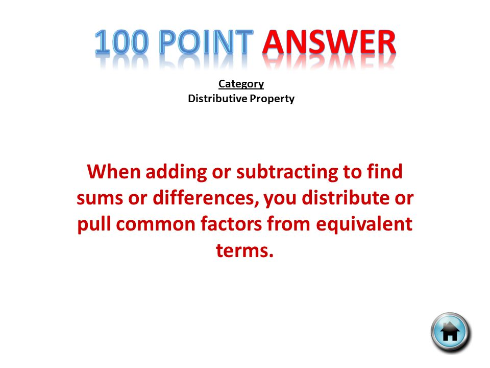 Category Exponents What is the power of the expression 6 2 ? Then solve 6 2.