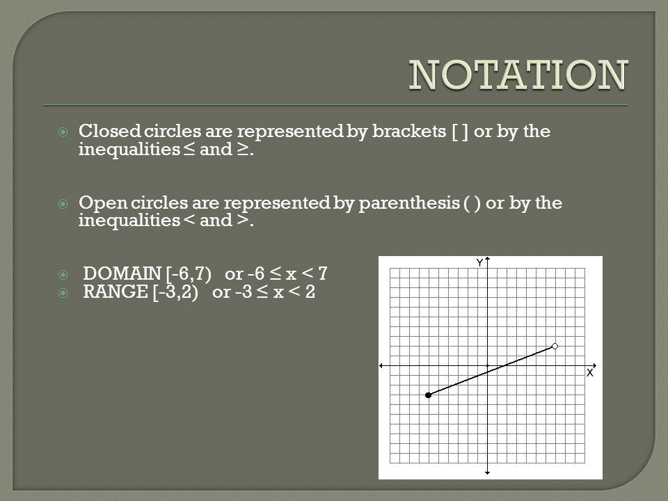x = -7, 2, 6, 7 -6 ≤ x ‹ 7 [-6,7)
