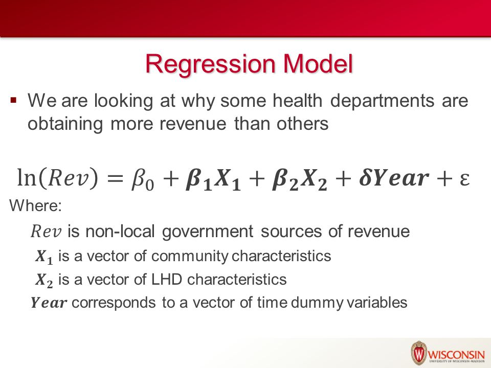Regression Model Regression Model